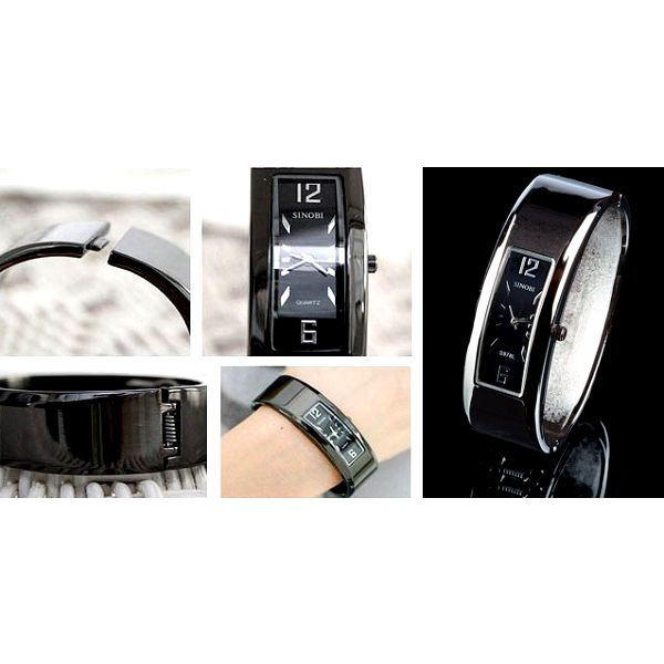 Elegantní náramkové hodinky SINOBI s kovovým řemínkem, ideální doplněk do divadla nebo na koncert se slevou 74%! Poštovné pouze 35 Kč!