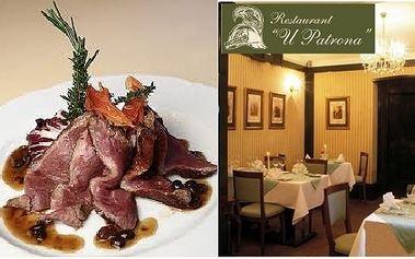 Pouhých 479 Kč za steakovou mísu o hmotnosti 600g pro dvě osoby podávanou se třemi druhy omáčky, přílohou zeleninou Ratatoille a rozpečenými bagetkami. Přijďte si užít romantický večer v luxusní restauraci s delikátním menu se slevou 51%!