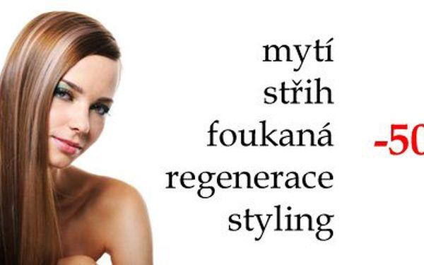Kadeřnický balíček pro Vás a Vaše vlasy s poctivou slevou 50%. Mytí, střih, foukaná, regenerace a styling.