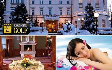 3-dňový WELLNESS pobyt pre DVOCH s polpenziou v luxusnom 4* Parkhoteli GOLF v Mariánskych Lázňach! Voľný vstup do bazéna, vonná sauna, kúpeľ a relaxačné balneo procedúry v cene! Teraz so zľavou až 43%!