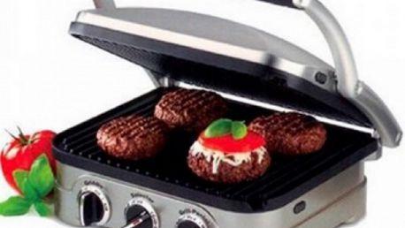 Pouhých 1320 Kč za Gril CUISINART GR4NE! Tento přiklápěcí gril lze použít doma i venku, je velice praktický s nepřilnavým povrchem! Pořiďte supr gril sobě nebo svým blízkým jako vánoční dárek!