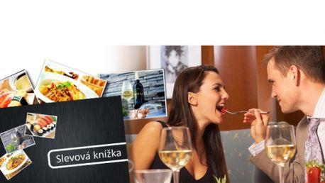 Knížka se slevami 50% či 1+1 zdarma do 10 vybraných restaurací v různých koutech Prahy. Za tuto slevovou knížku zaplatíte nyní jen 249 Kč a ušetříte!