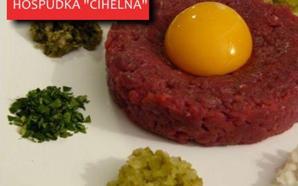 Pořádná 300g porce tataráku s topinkami se slevou 55 %, a to za 199 Kč!