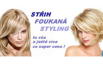 Profesionální péče o vaše vlasy v salonu in ! Střih, foukaná, styling za bezva cenu !