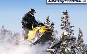 30minutová jízda na sněžném skútru! Pohonné hmoty jsou v ceně!