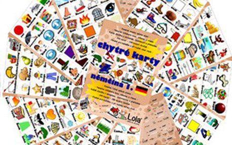 Nikdy nebylo učení tak snadné! CHYTRÉ KARTY s 240 slovíčky v angličtině, němčině, ruštině nebo španělštině (1. díl)