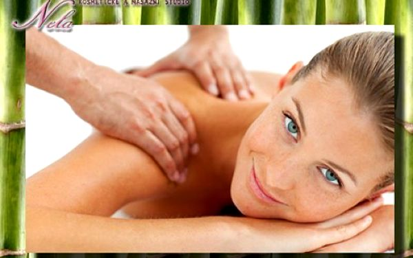 Vyberte si ze 3 HODINOVÝCH relaxačních MASÁŽÍ v kosmetickém a masážním studiu Nela! Síla lávových kamenů, bambusu nebo bylinných sáčků se slevou 50 %!