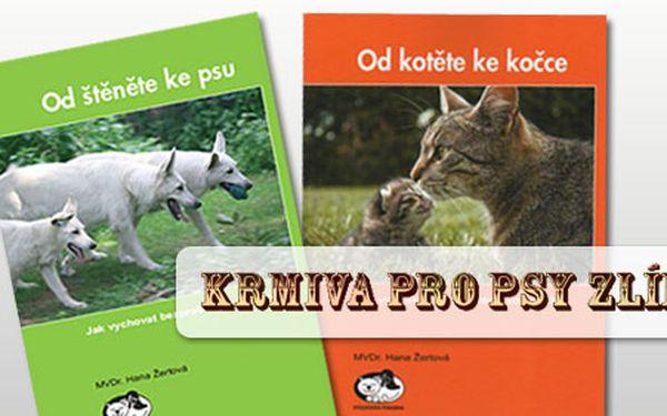 """Chcete si pořídit pejska či kočičku? Předtím si nejprve pořiďte knihu MVDr. Žertové """"Od štěněte ke psu"""" nebo Od kotěte ke kočce"""" za vánočních 59 Kč s HyperSlevou 51%"""