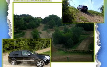 50% sleva na adrenalinovou offroadovou jízdu v luxusním SUV 4x4 na brněnském polygonu!