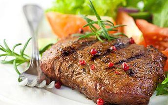 Dejte si luxusní menu, jež nasytí i ČTYŘI OSOBY. Ochutnejte výbornou krkovičku a různé přílohy. 42% sleva na 3x 200g grilované krkovice s přílohami - hranolky, americké brambory, grilovaná zelenina, 3x cibulové kroužky plus 2 druhy omáček.