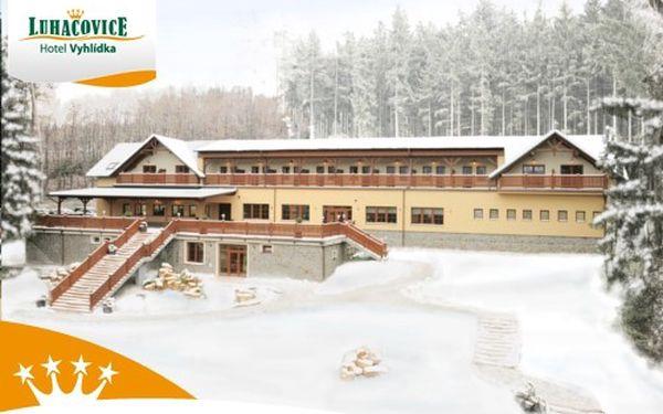 Poznejte krásu zimních nebo jarních Luhačovic, a to za ceny roku 2011! Pobyt pro 2 osoby na 3 dny (2 noci) s polopenzí ve 4**** Hotelu VYHLÍDKA jen za 1 980 Kč! Ideální DÁREK!