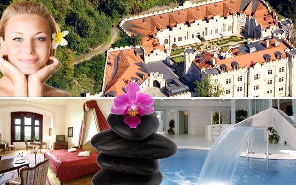LUXUSNÍ WELLNESS V ZÁMECKÉM HOTELU V HLUBOKÉ, 3 DNY PRO DVA. Ubytování v zámeckém hotelu, odpočinek při wellness procedurách, královská večeře - pohádka v Hluboké nad Vltavou.