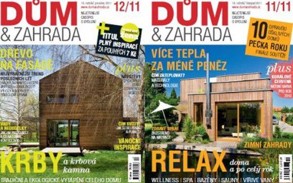 Roční předplatné časopisu Dům a zahrada jen za 530 Kč + 2x speciál Top Domy!