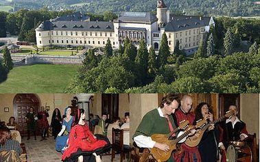 Prežite 2 rozprávkové dni s vašou láskou na českom zámku CHATEAU HOTEL ZBIROH! V cene vstup na unikátnu výstavu Tvár Leonarda Da Vinciho, raňajky a kráľovské posedenie v Zámockej krčme! Len teraz so zľavou až 50%!