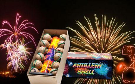 Nabídka zábavní pyrotechniky na Silvestra se slevou 41%! Set obsahuje mohutný ohňostroj a sadu 12 kulových pum! Silvestrovský ohňostroj za akční cenu 249 Kč!