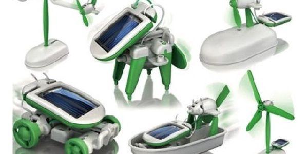 Solární stavebnice nové generace 6v1 pro malé i velké ! Zábavný, ale i naučný model hračky jen za 179,-Kč