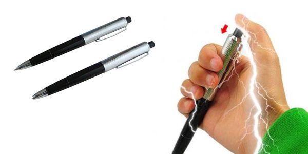 Jen za 149 Kč chraňte svoje psací potřeby před nenechavýma rukama cizích lidí a zažertujte si! S elektrošokovou propiskou!!!