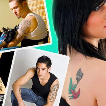 Toužíte po tetování už nějaký čas? Odhodlejte se, tato nabídka přesvědčí i Vás! 32% sleva na tetování dle vlastního výběru z nabídky našich motivů nebo podle Vašeho návrhu v profesionálním studiu.