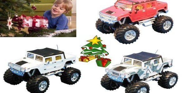 Věrná mini kopie vojenského vozidla americké armády. Super dárek jak pro tatínky, tak i pro malé děti. Užijte si spoustu radosti a zábavy s RC modely Hummer.