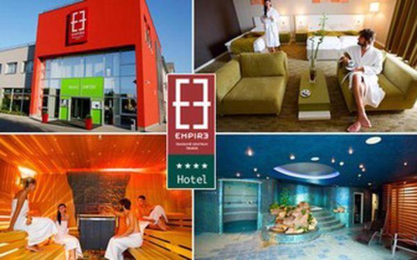 Jen 2990 Kč za luxusní relaxační pobyt pro 2 osoby na 2 noci se snídaní ve čtyřhvězdičkovém hotelu Empire v Trnavě! Čeká vás krásné ubytování, wellness, neomezený vstup do fitness, welcome drink a mísa ovoce na pokoji. Sleva 64%.