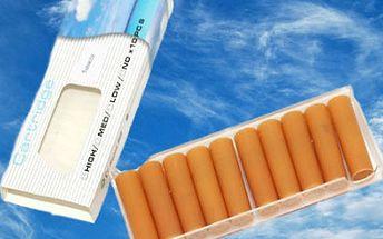 10 náplní do elektronické e-cigarety health jen za 99 kč vč. Poštovného