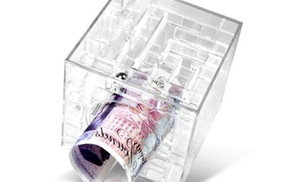 Originální labyrint na peníze nyní za senzačních 189 Kč! Skvělý dárek pro děti i celou rodinu - netradiční pokladnička s hlavolamem v jednomse slevou 53 %!