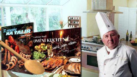 """2 kuchařské knihy -Kuchařka roku 2008! """"Umění kuchyně - vařil jsem všem"""" a kniha Z moře na talíř obě od Ladislava Nodla! Obě za fantastických 299 Kč!"""