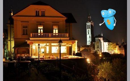 Kutná Hora, Hotel Opat či Vila U Varhanáře. 3 dny pro 2 osoby se snídaní a degustační večeří. Romantický pobyt v centru královského města, památky UNESCO.