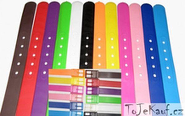 199 Kč místo 499 Kč - Novinka na trhu! Silikonové trendy opasky se slevou 60 %. Poštovné v ceně, 12 zářivých barev!