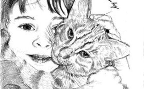 Malování portrétu tužkou na A4 formát podle vaší fotografie. Kresba portrétu je vždy originální ruční práce!