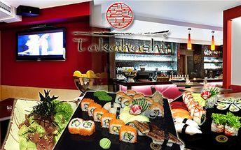 Jakékoliv japonské sushi, polévky, saláty a dezerty z široký nabídky Sushi baru Takahashi s 50% slevou! Náš degustátor restauraci prověřil a vzkazuje: na co ještě čekáte?