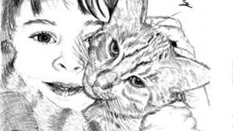Tužkou kreslený portrét na A3 formát podle vaší fotografie. Kresba portrétu je vždy originální ruční práce!