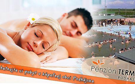 3 denní relaxační pobyt v Penzionu Termál Podhájska na Slovensku již od 910 Kč na osobu. Ubytování v komfortních pokojích se snídaní. Dopřejte si odpočinek v příjemném lázeňském prostředí.