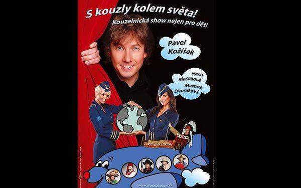 """Divadelní představení pro děti """"S kouzly kolem světa!"""" - Divadlo kouzel Pavla Kožíška - s 40% slevou. Kouzla a zábava nejen pro děti!"""