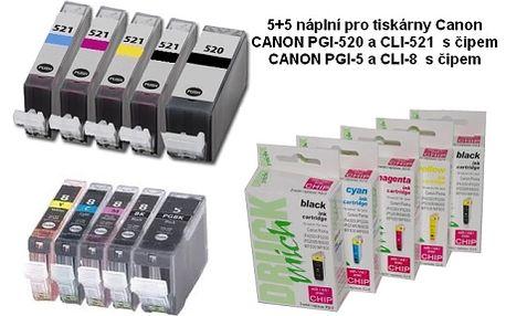 385 Kč za multipack 5+5 kusů kompatibilních náplní pro tiskárny Canon a navíc obdržíte kvalitní foto papír 10x15 50 ks a to včetně dopravy. Vyberte si cartridge za neopakovatelnou cenu.