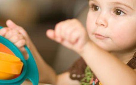 Kouzelná šikovná miska GYRO BOWL pro všechny malé neposedy: Obsah této misky dítě NIKDY NEVYSYPE!