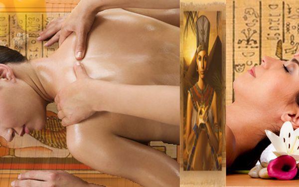 Egyptská masáž + antistresová masáž hlavy (100 minut).