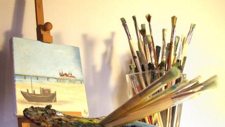 Jedinečný KURZ OLEJOMALBY za bezkonkurenční cenu 680 Kč! Délka lekce je 2,5 hodiny! V ceně dostanete také plátno, barvy, štětce, paleta, terpentýn, olej, závěrečný lak!
