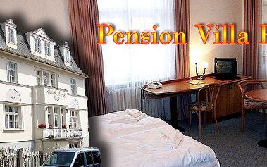 Žhavá nabídka first minute do Mariánských lázní - třídenní relax v krásném pensionu Villa Eva s bohatou polopenzí! Kupony lze sčítat!