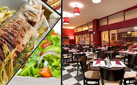 40% sleva na luxusní středomořské menu pro dva – ryba, salát, dezert!