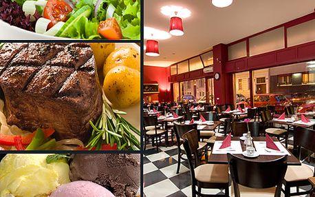 41% sleva na gurmánské menu v La Marsa – salát či polévka, hovězí svíčková a dezert s kávou!