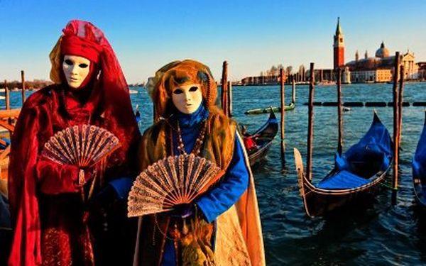 Karneval v italských Benátkách – jednodenní prohlídka Benátek, 3 únorové termíny – včetně Valentýna!