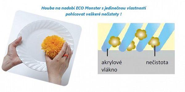 Novinka na trhu ! Houba ECO Monster ! 297 Kč za houbu ECO Monster na nádobí. Díky této houbě umyjete Vaše nádobí dokonale bez použití jakýchkoli saponátů ! SLEVA 40 % !