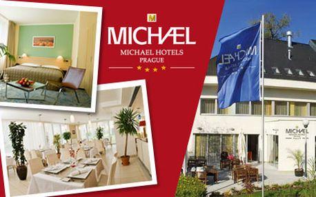 1990 Kč za pobyt pro 2 osoby na 2 noci v luxusním hotelu Michael**** Praha včetně 3chodové večeře při svíčkách. Užijte si víkend ve stověžaté Praze. HyperSleva 50 %.