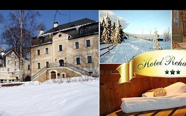 74EUR za relaxačný pobyt v srdci Jizerských hôr pre 2 osoby na 3 dni s raňajkami, posedením v bare a hudobným večerom v hoteli Rehavital*** teraz s 58% zľavou.