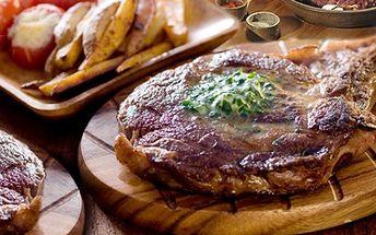 Hodujte k Vaší spokojenosti! Dejte si STEAKY A TATARÁK dle libosti. 65% sleva na 400g steaků - vepřová panenka, kuřecí maso a vepřová kotleta s pepřovou omáčkou a přílohou plus 120g tatarského bifteku s topinkami.