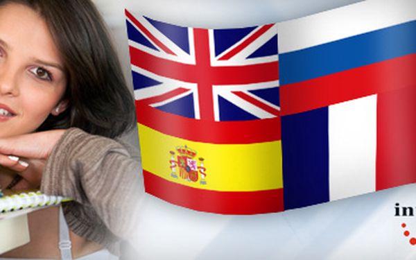 JAZYKOVÝ KURZ DLE VÝBĚRU, jedna 90-ti minutová lekce za pouhých 109 Kč!! Naučte se anglicky, rusky, německy, španělsky, francouzsky, či italsky pod dohledem profesionálního lektora, se slevou 54%!!