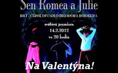 2 vstupenky na Romea a Julii za 350 Kč! Netradiční pojetí lásky dvou lidí plné světelných efektů. Ideální jako dárek na Valentýna!