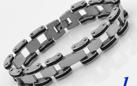 Náramek z chirurgické oceli - MODERNÍ DOPLŇEK pro každou přiležítost! Vyber ze tři variant.