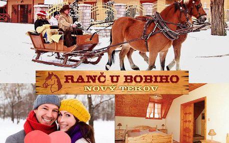 Romantický 3-dňový VALENTÍNSKY pobyt pre 2 osoby na RANČI U BOBIHO! Plná penzia, valentínska zábava, jazda na koni a súkromný wellness s fľašou sektu len teraz so zľavou 50%!